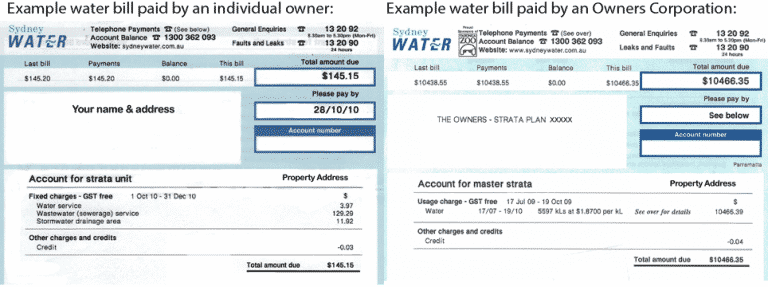 strata building water usage